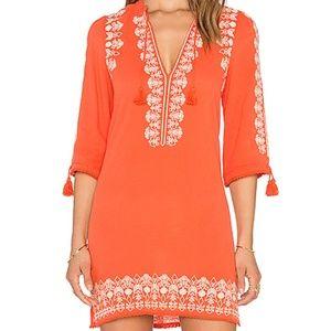 Spell Gypsy Santorini Tunic Dress Orange XS
